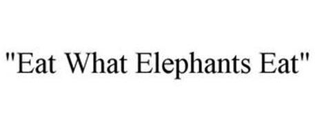 """EAT WHAT ELEPHANTS EAT"""