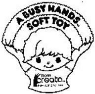 A BUSY HANDS SOFT TOY FROM CREATA INTERNATIONAL, INC.