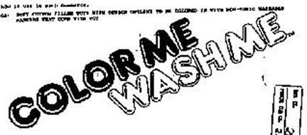 COLOR ME WASH ME