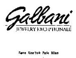 GALBANI JEWELRY EXCEPTIONALE ROME NEW YORK PARIS MILAN