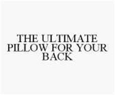 THE ULTIMATE PILLOW FOR YOUR BACK