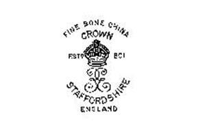 CROWN STAFFORDSHIRE ENGLAND FINE BONE CHINA ESTD. 1801