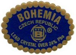 BOHEMIA CZECH REPUBLIC B LEAD CRYSTAL OVER 24% PBO