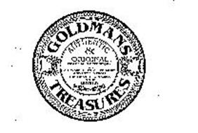 GOLDMANS TREASURES AUTHENTIC & ORIGINALGOLDMAN'S DEPOSITORY FOR ARTWARE, CRYSTAL, CERAMIC AND METALS FROM THE FINEST PRODUCERS IN THE WORLD