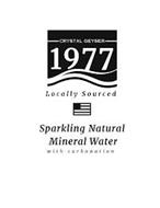 CRYSTAL GEYSER 1977 LOCALLY SOURCED SPARKLING NATURAL MINERAL WATER WITH CARBONATION