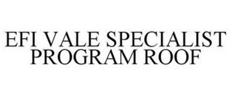 EFI VALE SPECIALIST PROGRAM ROOF