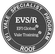 EFI VALE SPECIALIST PROGRAM ROOF EVS/R EFI GLOBAL VALE TRAINING