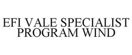 EFI VALE SPECIALIST PROGRAM WIND