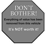 DON'T BOTHER! EVERYTHING OF VALUE HAS BEEN REMOVED FROM THIS VEHICLE IT'S NOT WORTH IT!