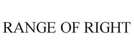 RANGE OF RIGHT