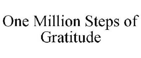 ONE MILLION STEPS OF GRATITUDE