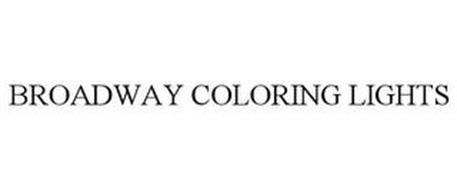 BROADWAY COLORING LIGHTS