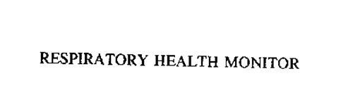 RESPIRATORY HEALTH MONITOR