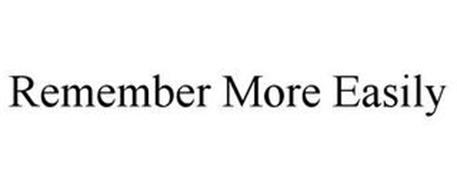 REMEMBER MORE EASILY