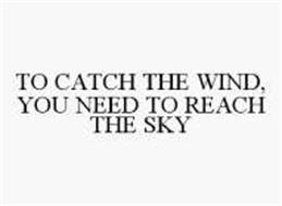 TO CATCH THE WIND, YOU NEED TO REACH THE SKY
