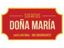 SOFRITOS DOÑA MARÍA 100% NATURAL · SIN CONSERVANTES