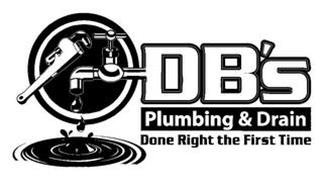 DB'S PLUMBING & DRAIN DONE RIGHT THE FIRST TIME