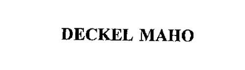 DECKEL MAHO Trademark of DECKEL MAHO Pfronten GmbH Serial