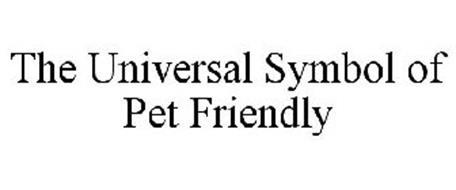 THE UNIVERSAL SYMBOL OF PET FRIENDLY