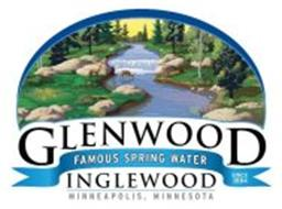 GLENWOOD INGLEWOOD FAMOUS SPRING WATER MINNEAPOLIS, MINNESOTA SINCE 1884