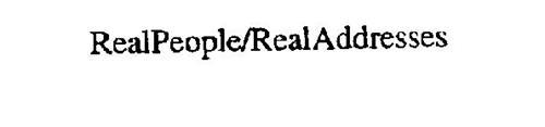 REALPEOPLE/REALADDRESSES