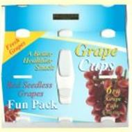 GRAPE CUPS A BETTER HEALTHIER SNACK RED SEEDLESS GRAPES FUN PACK FRESH GRAMES 6PK GRAPE CUPS