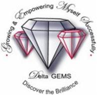 · DELTA GEMS GROWING & EMPOWERING MYSELF SUCCESSFULLY · DISCOVER THE BRILLIANCE
