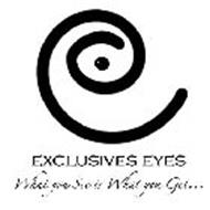 EXCLUSIVES EYES WHAT YOU SEE IS WHAT YOU GET...