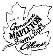 THIS IS GENUINE MAPLETON SEMI SOFT CHEESE