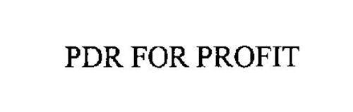 PDR FOR PROFIT