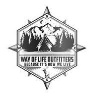 WAY OF LIFE OUTFITTERS BECAUSE IT'S HOW WE LIVE N S E W