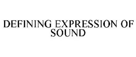 DEFINING EXPRESSION OF SOUND