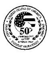 UNITED STATES OF AMERICA 1950-1953 2000-2003 COMMEMORATION 50TH ANNIVERSARY OF THE KOREAN WAR
