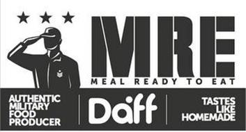 MRE MEAL READY TO EAT AUTHENTIC MILITARY FOOD PRODUCER DAFF TASTES LIKE HOMEMADE