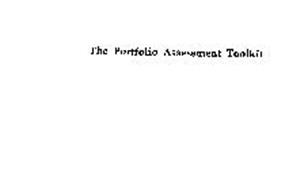 THE PORTFOLIO ASSESSMENT TOOLKIT