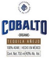 DCP COBALTO DESTILERIA CASA DE PIEDRA ORGANIC TEQUILA AÑEJO 100% AGAVE HECHO EN MEXICO CONT. NET.750ML 40% ALC. VOL.