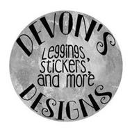 DEVON'S DESIGNS LEGGINGS, STICKERS, AND MORE