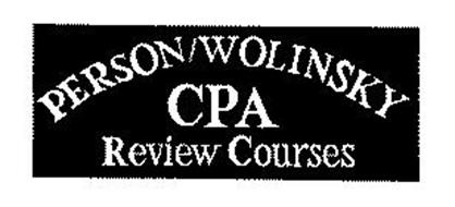 PERSON/WOLINSKY CPA REVIEW COURSES