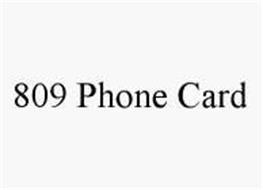 809 PHONE CARD