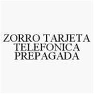 ZORRO TARJETA TELEFONICA PREPAGADA