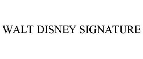 WALT DISNEY SIGNATURE