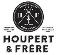 HOUPERT & FRERE H&F MONTREAL ESTD 2014 ARTISANAL DISTILLERY DISTILLERIE ARTISANALE