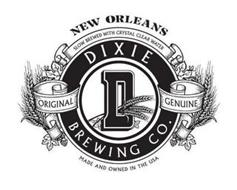 NEW ORLEANS SLOW BREWED WITH CRYSTAL CLEAR WATER DIXIE BREWING CO. D ORIGINAL GENUINE MADE AND OWNED IN THE USA