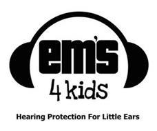 EM'S 4 KIDS HEARING PROTECTION FOR LITTLE EARS