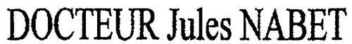 DOCTEUR JULES NABET