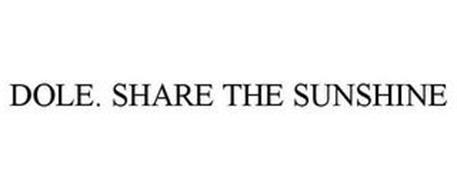 DOLE. SHARE THE SUNSHINE