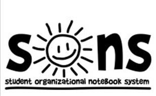 SONS STUDENT ORGANIZATIONAL NOTEBOOK SYSTEM