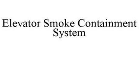 ELEVATOR SMOKE CONTAINMENT SYSTEM