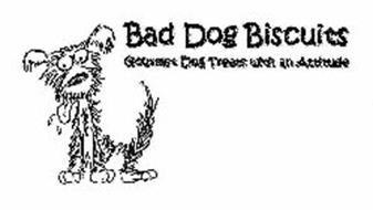 BAD DOG BISCUITS GOURMET DOG TREATS WITH AN ATTITUDE