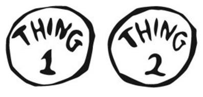 Crazy image throughout thing 1 and thing 2 logo printable